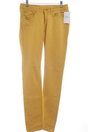 Jeans skinny orange doré style décontracté