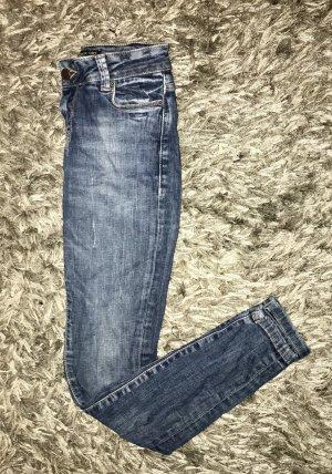 Zara Jeans taille basse multicolore