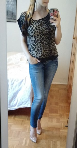 Skinny Jeans Gr. 34 XS (It. 40) slim hellblau röhren wäschung 7/8 gekürzt smagli