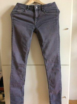 Skinny Jeans grau, H&M Gr. 38