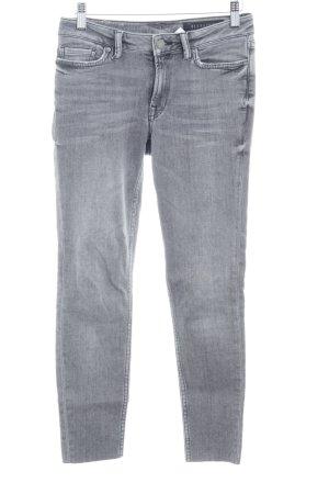 Skinny Jeans grau Urban-Look