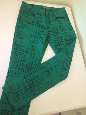 Skinny Jeans grüne Croco Hose von esprit