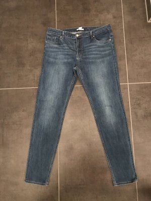 H&M Pantalón de cinco bolsillos azul oscuro-azul