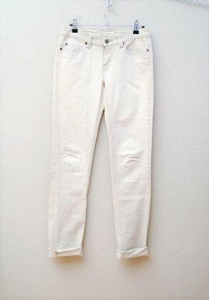 Skinny Jeans - Hellbeige-Grau-Mix