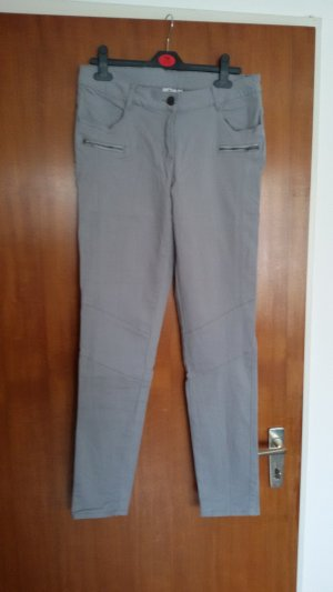 Blue Motion Stretch Trousers light grey cotton