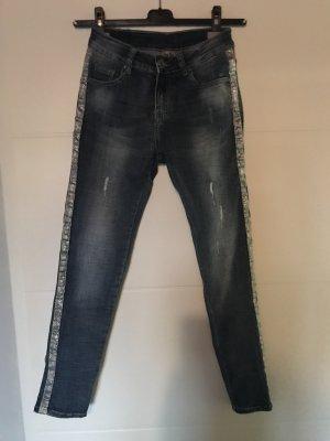 0039 Italy Skinny jeans staalblauw