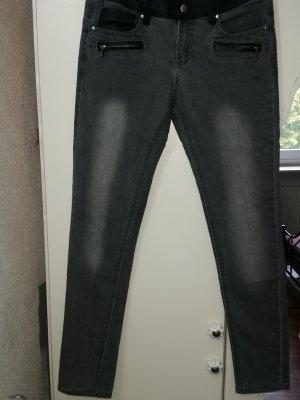 Skinny Jeans Hose Daysie 38/40 dunkelgrau