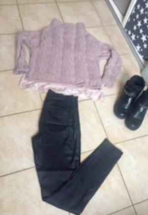 Skinny Jeans im Lederlook