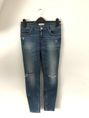 Zara Jeans skinny bleu acier