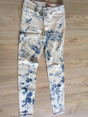 Skinny Jeans in Batik-Optik