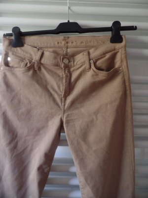 7 For All Mankind Jeans skinny beige Cotone
