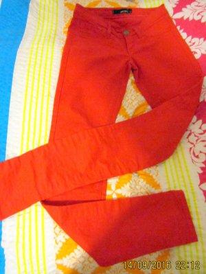 Skinny Jeans/Jeggins-tomatenroter Stretchcanvas *TALLY WEIJL* W 25= Gr.32-neuw.