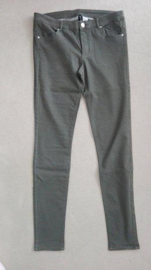 Skinny Jeans khakigrün von H&M Divided