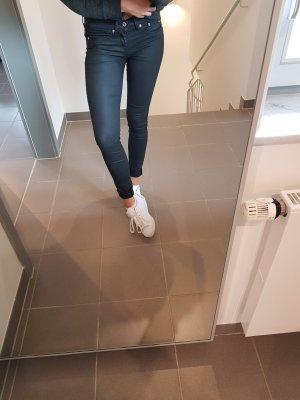 Skinny Jeans Lederoptik