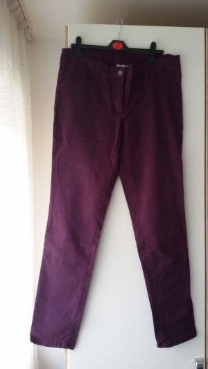 Blue Motion Pantalon strech brun pourpre coton