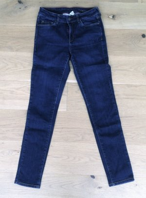 """Skinny Jeans """"London"""" von Mango • Röhre mit hohem Bund in Dark Denim"""