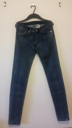 Skinny Jeans, Low Waist, dunkelblau