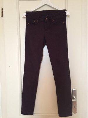 Skinny Jeans low waist in lila, Gr. 26/30