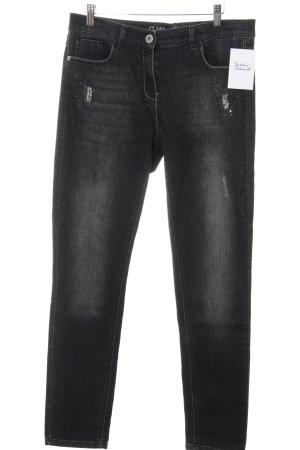 Skinny Jeans mehrfarbig Washed-Optik