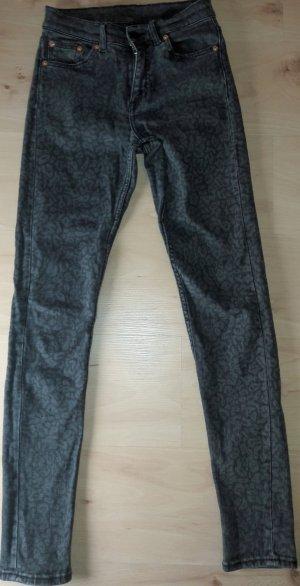 Skinny Jeans mit Leo Muster