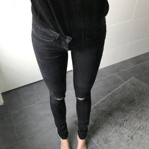 Skinny Jeans mit Rissen an den Knien Ripped Jeans
