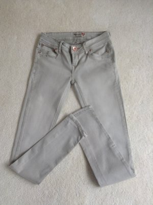 Skinny-Jeans / nude-grau-Ton / Gr. 34/36