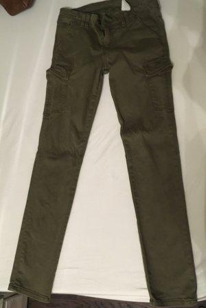 H&M Low Rise jeans khaki-olijfgroen