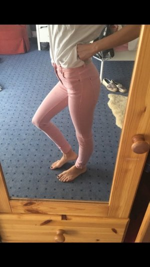 Skinny Jeans pastellrosa