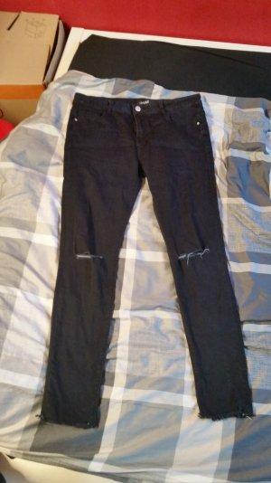 Skinny Jeans Regular Waist Gr. L Hailys dunkelblau