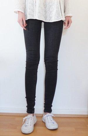 Skinny Jeans Röhrenjeans Röhre dunkelgrau regular waist 34 H&m