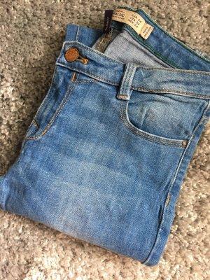 Skinny Jeans Röhrenjeans Zara blau XS 34