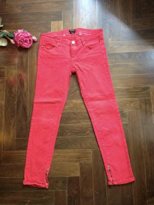 Skinny Jeans, rot, Massimo Dutti