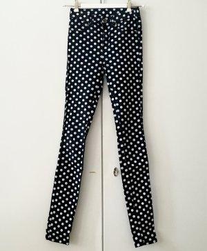 Skinny Jeans, schwarz weiß gepunktet, Dr. Denim Jeansmakers, Größe XS