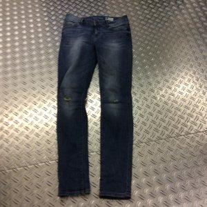 Skinny Jeans unterlegter Used look