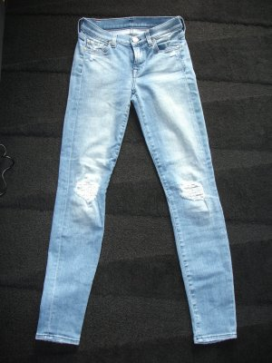 7 For All Mankind Skinny jeans azuur Katoen
