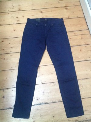 Citizens of Humanity Skinny Jeans dark blue mixture fibre