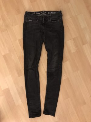 Guess Pantalón de pinza alto negro-gris