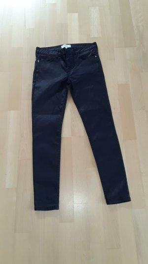 Skinny Jeans von MANGO, dunkelblau, beschichtet, Gr. 38, Modell BELLE