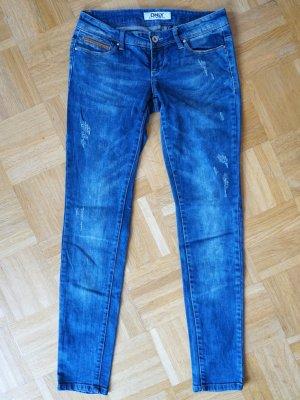Skinny Jeans von Only mit Used Effekten