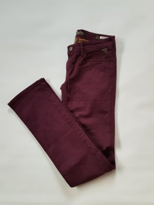 Replay Jeans a gamba dritta bordeaux-rosso mora