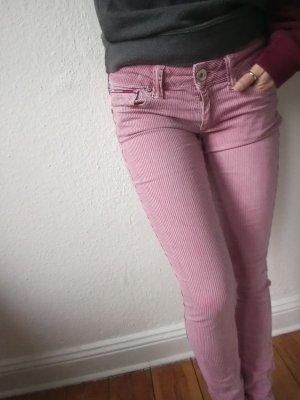 Skinny-Jeans von Tommy Hilfiger rosa blau gestreift , Röhrenjeans 28 / 32