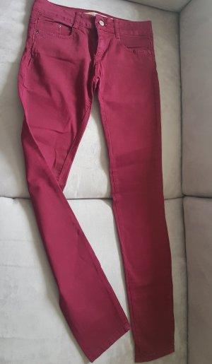 Skinny Jeans von Zara in rot - TOP