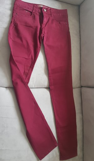 Skinny Jeans von Zara in rot - TOP