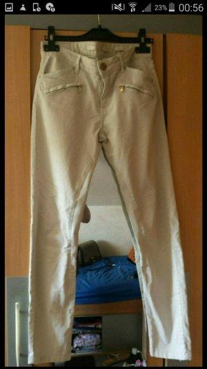 Skinny Jeans von Zara nude