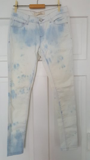 Skinny Jeans weiss/blaue verwaschen