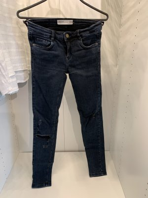 Zara Skinny jeans donkerblauw-leigrijs