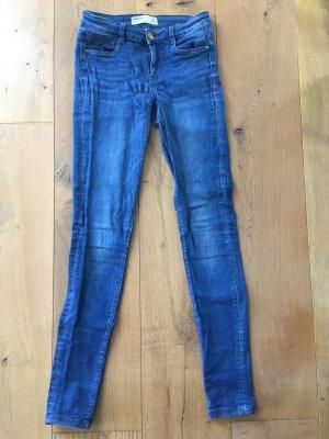 Skinny jeans Zara blau