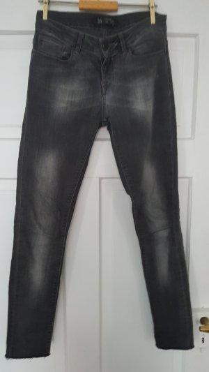 Skinny Jeans Zara grau verwaschen