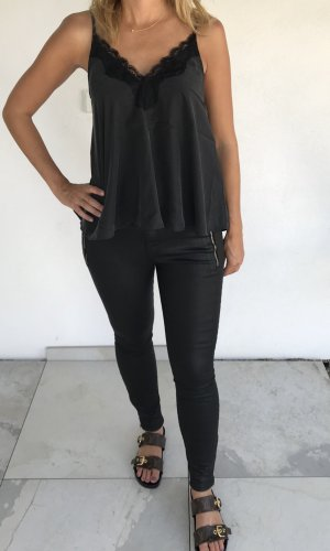 Skinny Jeans Zara Lederoptik