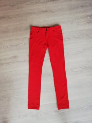 Drainpipe Trousers red mixture fibre